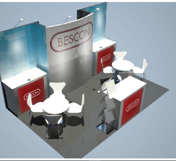 Exhibit Pros - 10x10 Exhibit Rental - Bescon