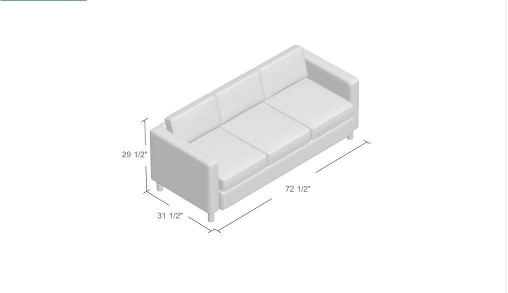 Desie Leather Sofa - Black / White