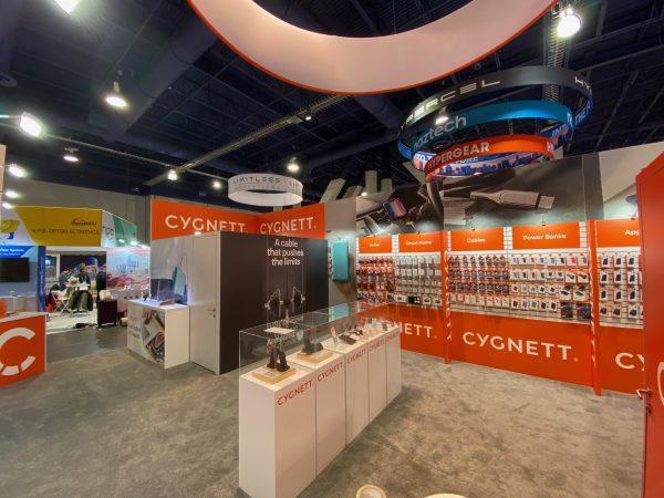 Custom Trade Show Booth Rental 20x40 CES Cygnett