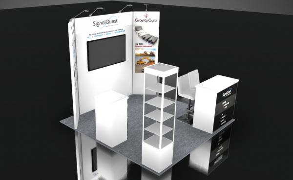 Signal Quest trade show booth rental design 10x10 ConExpo