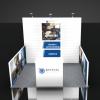 Custom Booth Design with Slat Wall 10x10 ShotShow Las Vegas