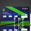 Atidot trade show booth rental design 10x20 ITC