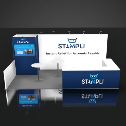 Stampli trade show booth rental design 10x20 SI Advantage