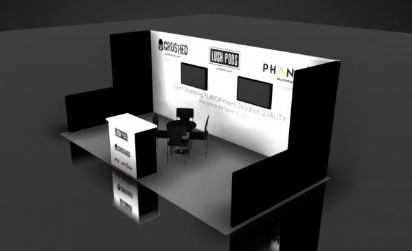 trade show booth rental design 10x20 ASD West