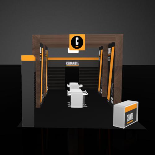 Exhibit booth rental